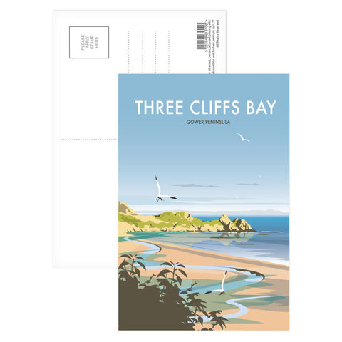 Three Cliffs Bay, Wales Postcard Pack