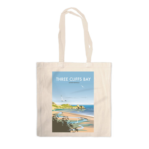 Three Cliffs Bay, Wales Canvas Tote Bag