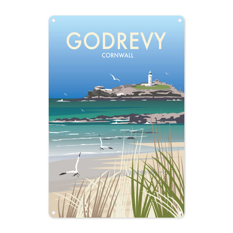 Godrevy, Cornwall Metal Sign