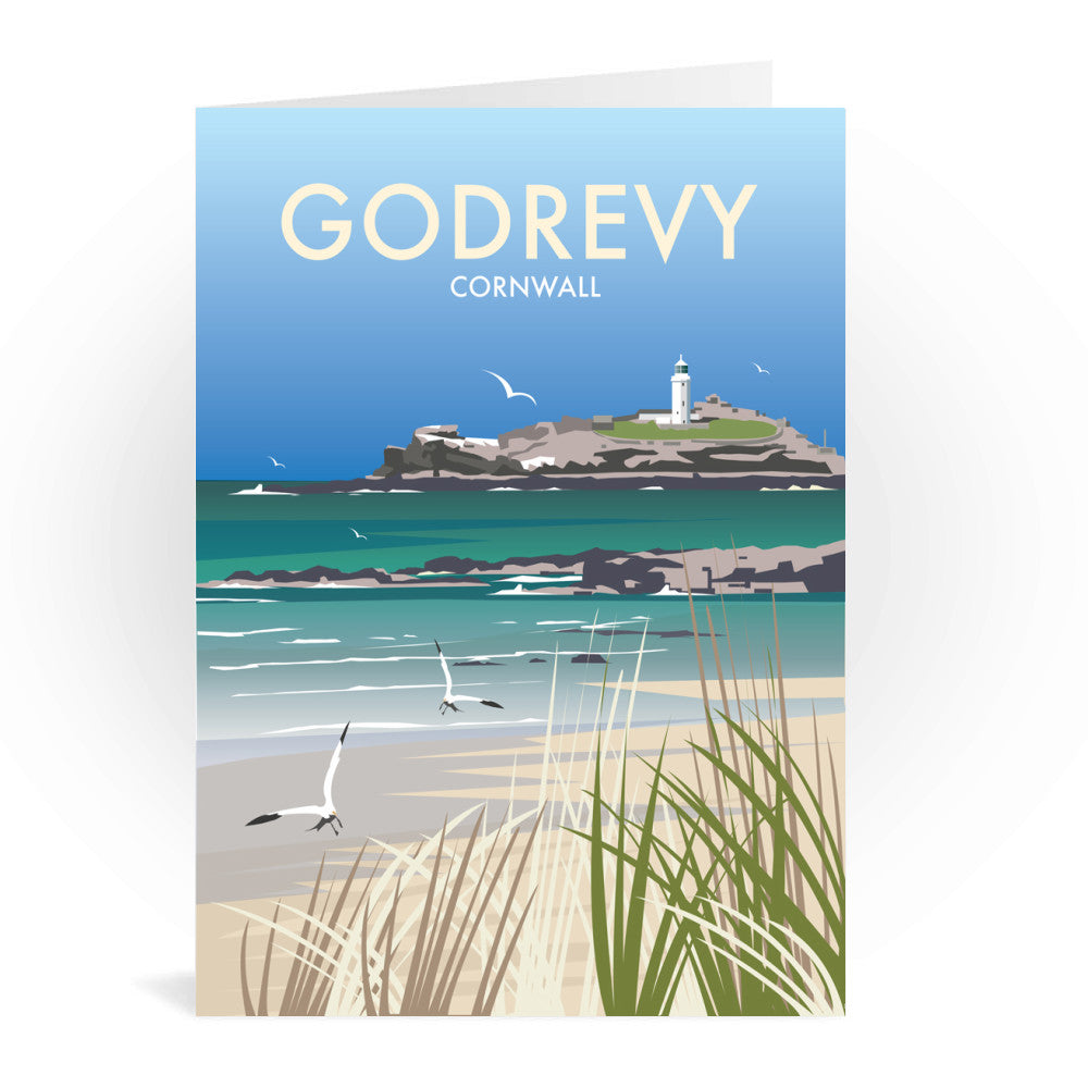 Godrevy, Cornwall Greeting Card 7x5
