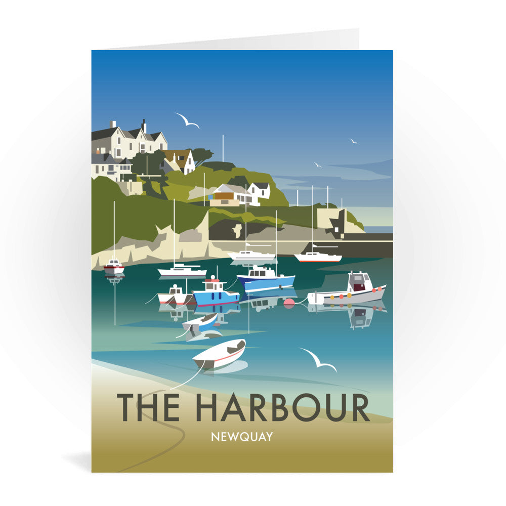 The Harbour, Newquay Greeting Card 7x5