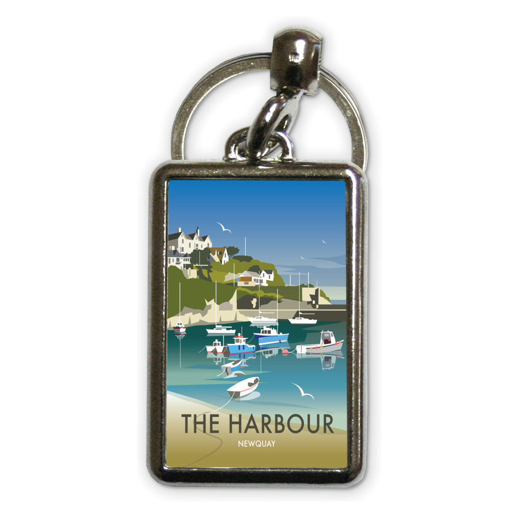The Harbour, Newquay Metal Keyring