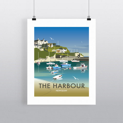 The Harbour, Newquay Fine Art Print