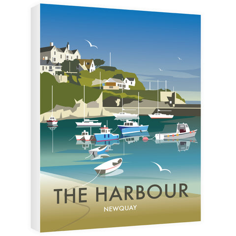 The Harbour, Newquay Canvas