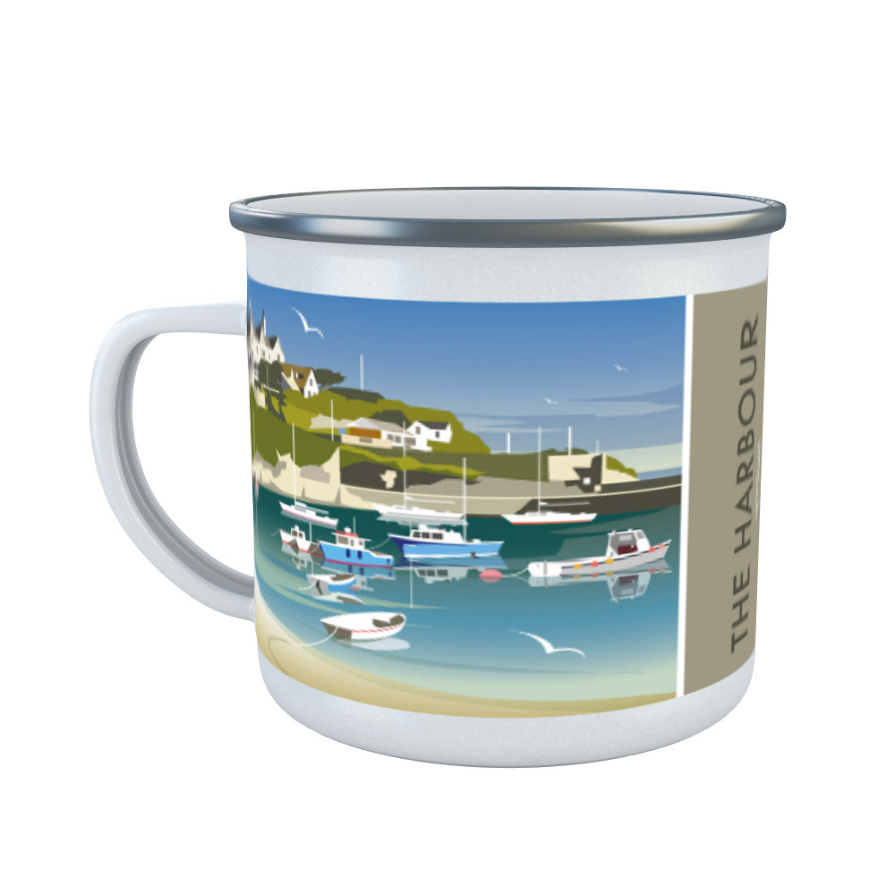 The Harbour, Newquay Enamel Mug