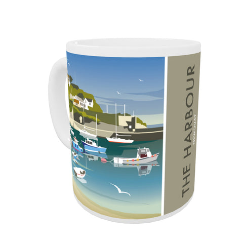 The Harbour, Newquay Coloured Insert Mug