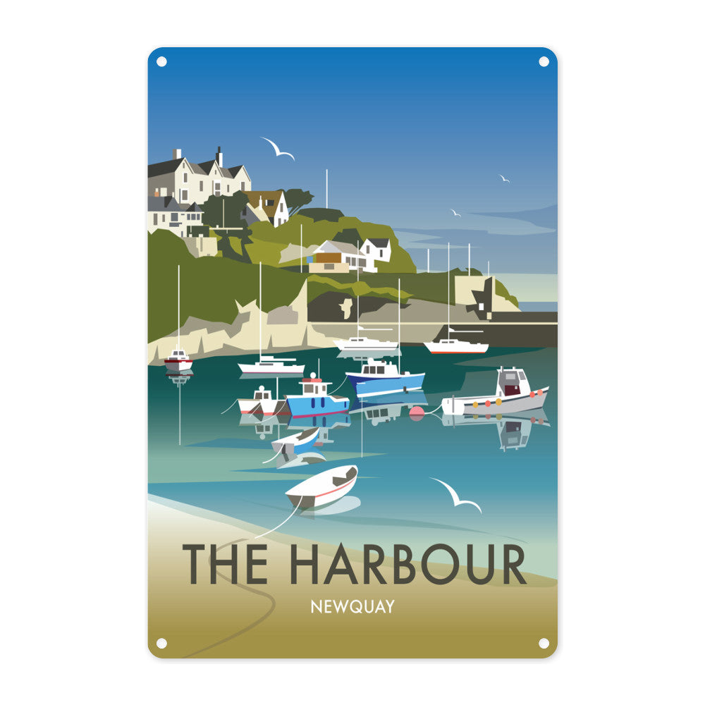 The Harbour, Newquay Metal Sign