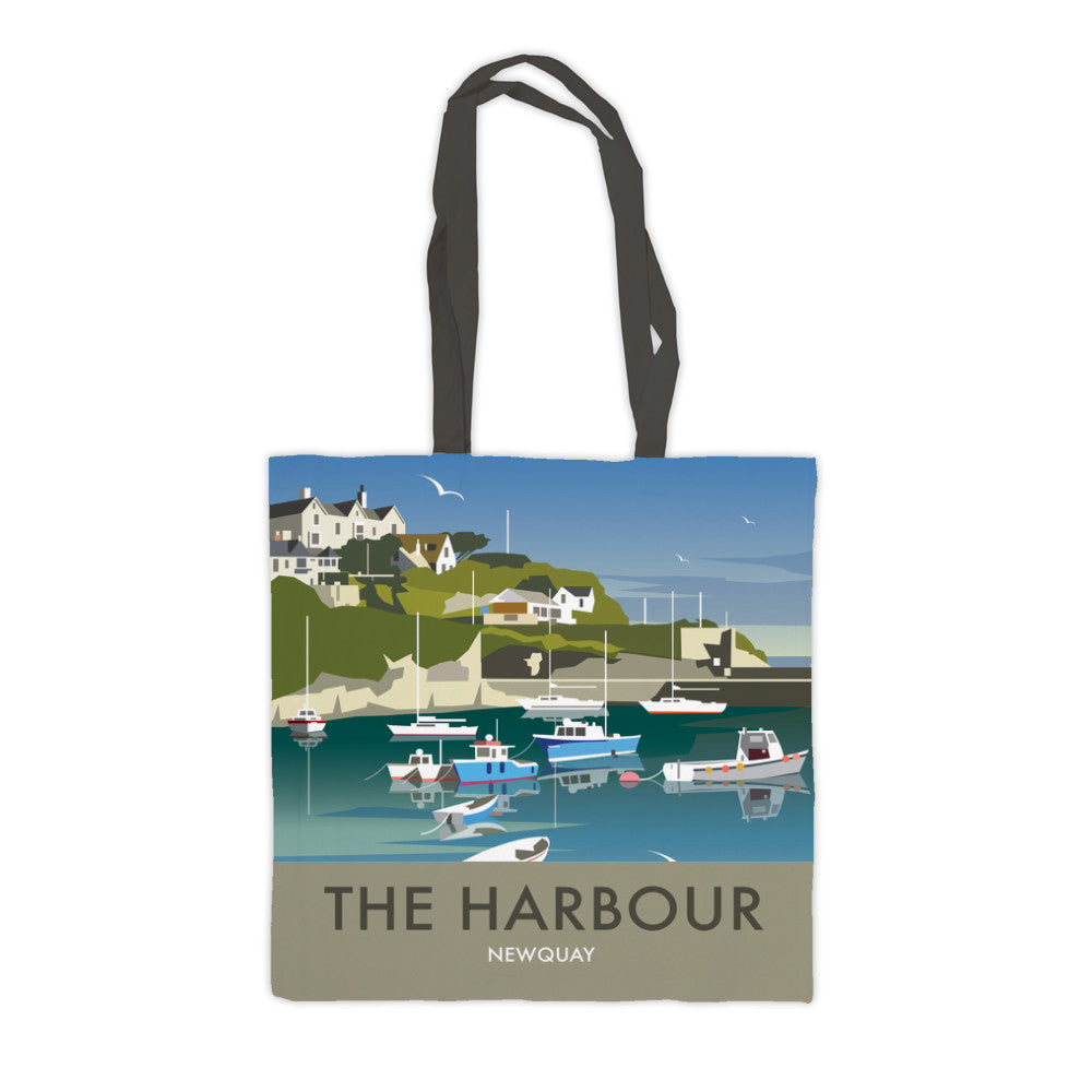 The Harbour, Newquay Premium Tote Bag
