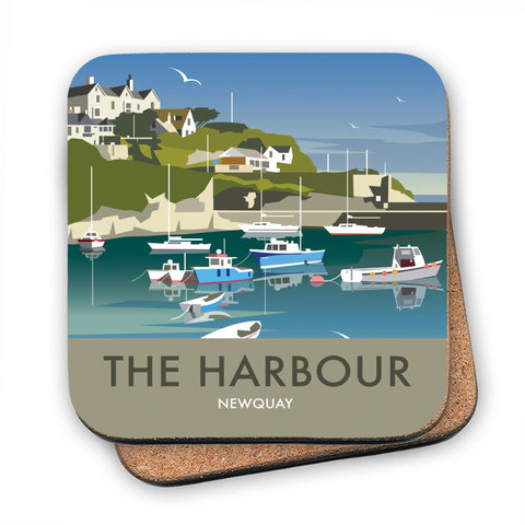The Harbour, Newquay MDF Coaster