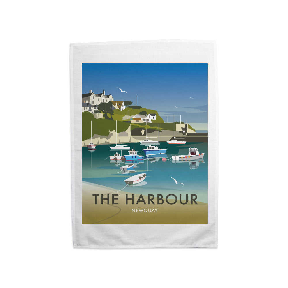 The Harbour, Newquay Tea Towel