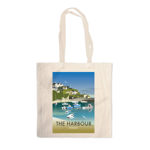 The Harbour, Newquay Canvas Tote Bag