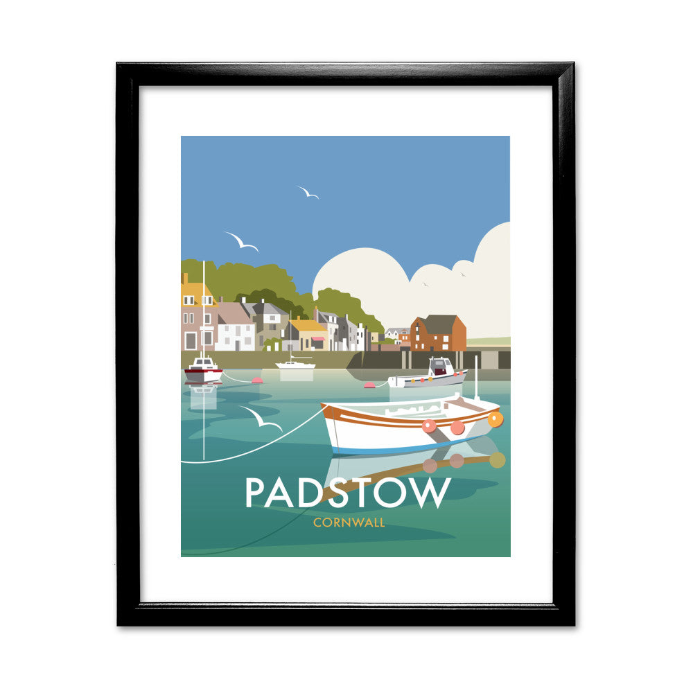 Padstow, Cornwall 11x14 Framed Print (Black)