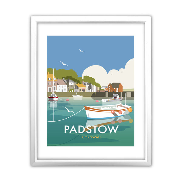 Padstow, Cornwall 11x14 Framed Print (White)