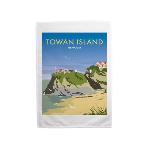 Towan Island, Newquay Tea Towel