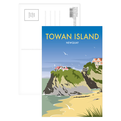 Towan Island, Newquay Postcard Pack