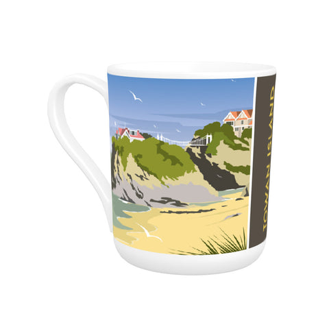 Towan Island, Newquay Bone China Mug