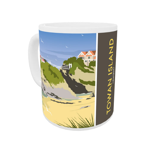 Towan Island, Newquay Coloured Insert Mug