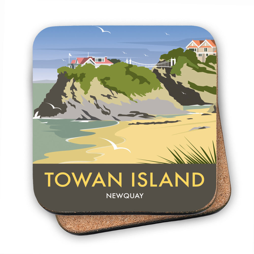 Towan Island, Newquay MDF Coaster
