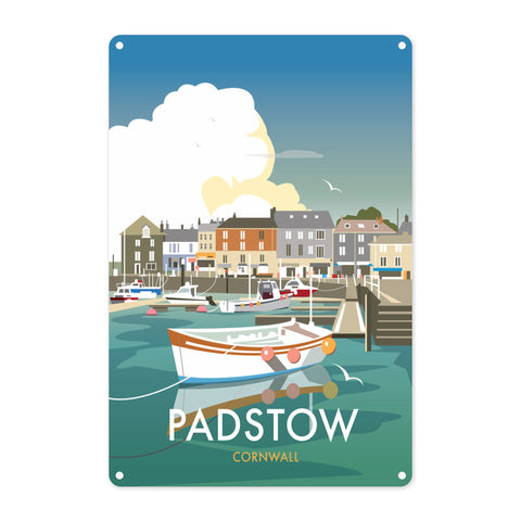 Padstow, Cornwall Metal Sign