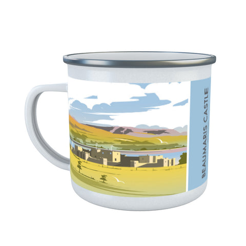 Beaumaris Castle Enamel Mug