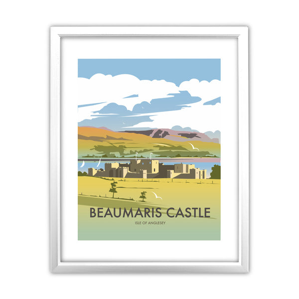 Beaumaris Castle 11x14 Framed Print (White)