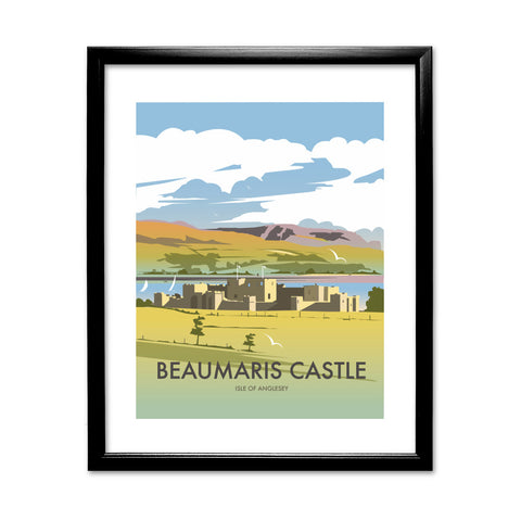 Beaumaris Castle 11x14 Framed Print (Black)