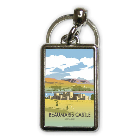 Beaumaris Castle Metal Keyring