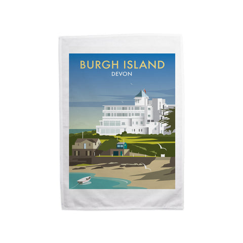 Burgh Island, Devon Tea Towel