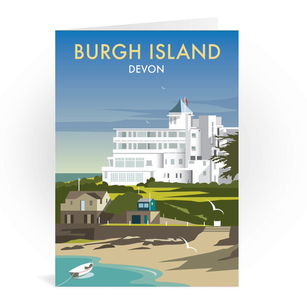 Burgh Island, Devon Greeting Card 7x5