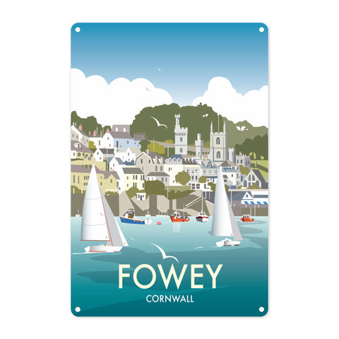 Fowey, Cornwall Metal Sign