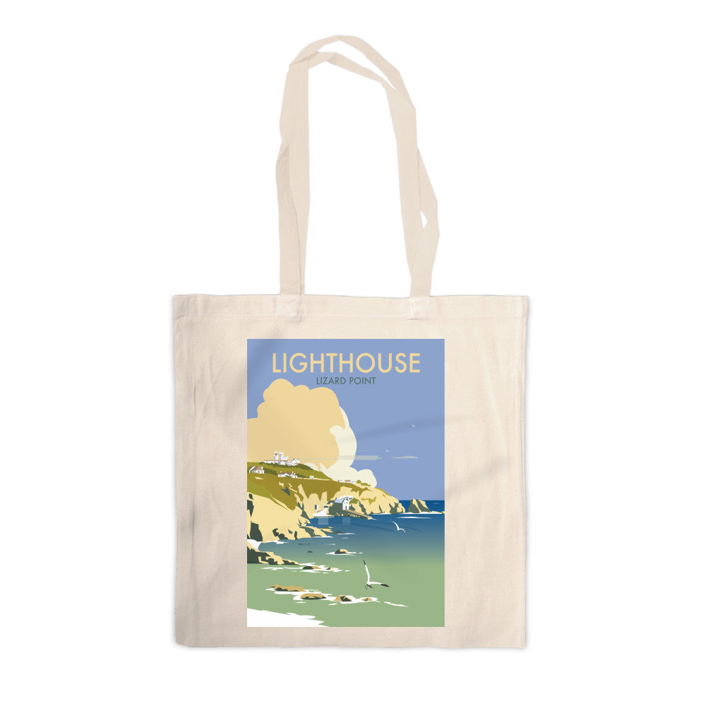Lizard Point Lighthouse, Cornwall Canvas Tote Bag