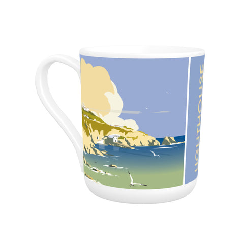 Lizard Point Lighthouse, Cornwall Bone China Mug