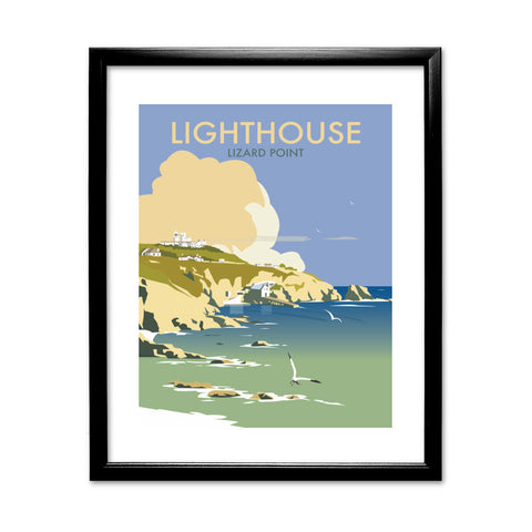 Lizard Point Lighthouse, Cornwall 11x14 Framed Print (Black)