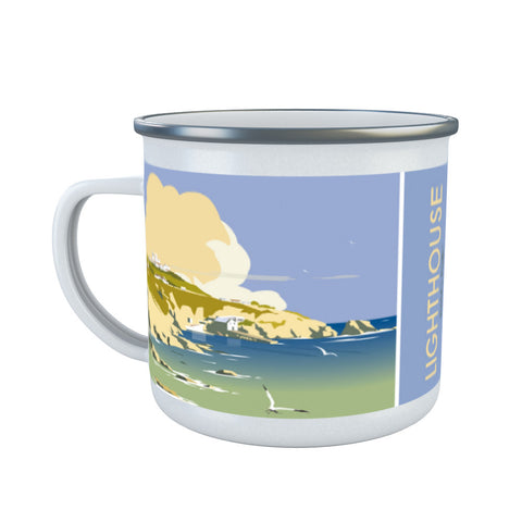 Lizard Point Lighthouse, Cornwall Enamel Mug