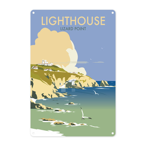 Lizard Point Lighthouse, Cornwall Metal Sign