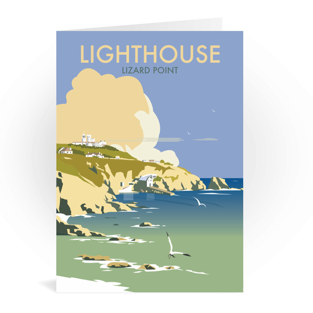 Lizard Point Lighthouse, Cornwall Greeting Card 7x5
