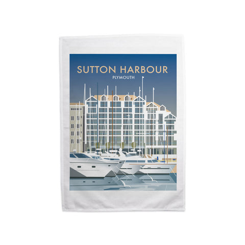 Sutton Harbour, Plymouth Tea Towel