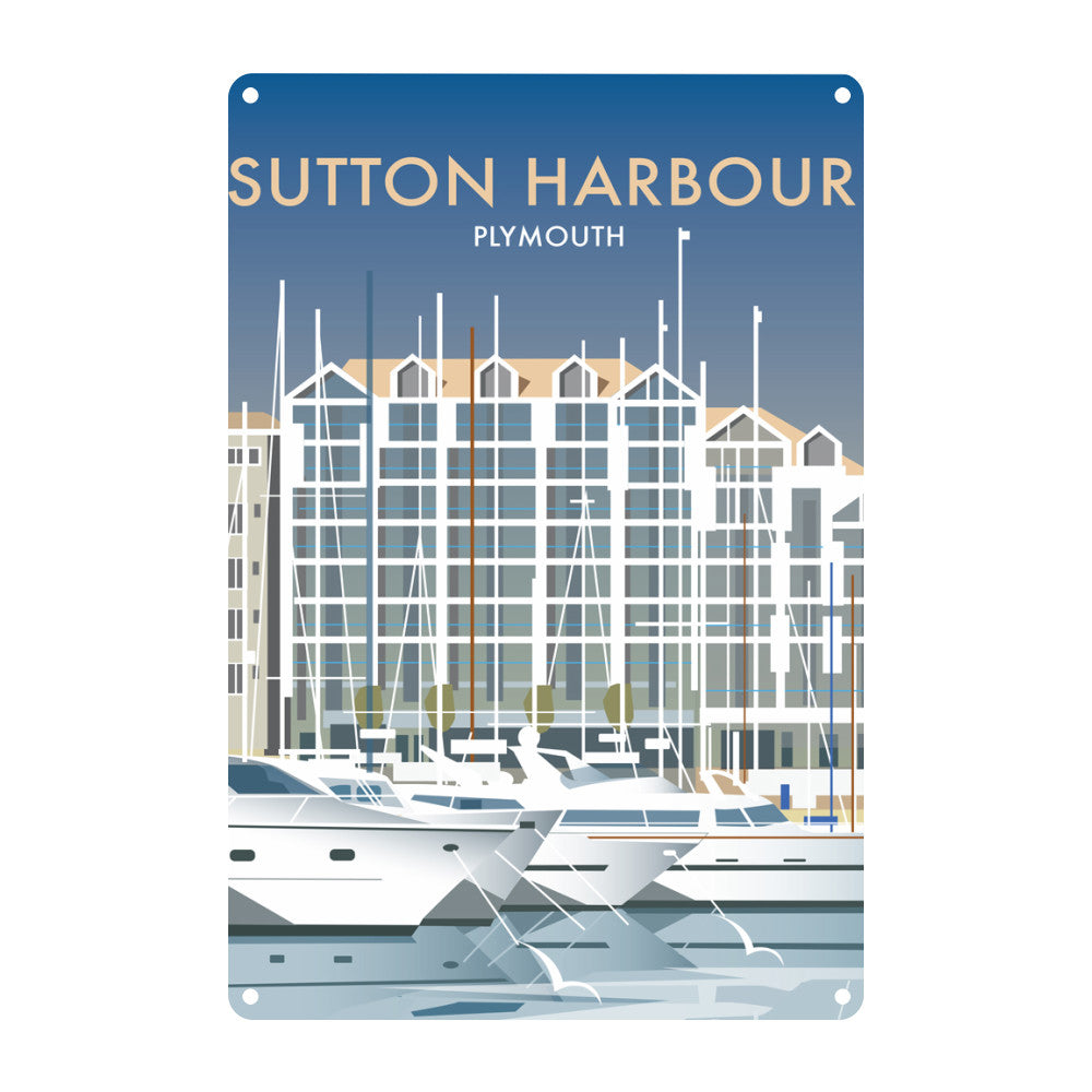 Sutton Harbour, Plymouth Metal Sign