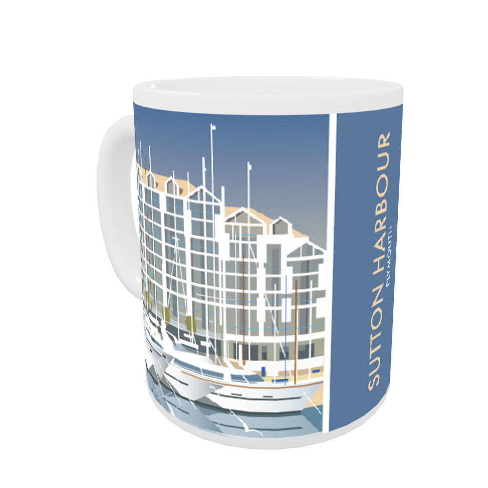 Sutton Harbour, Plymouth Coloured Insert Mug