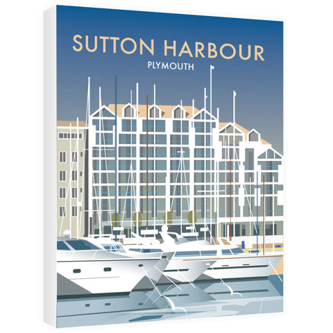 Sutton Harbour, Plymouth 40cm x 60cm Canvas