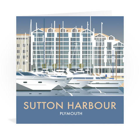 Sutton Harbour, Plymouth Greeting Card 7x5