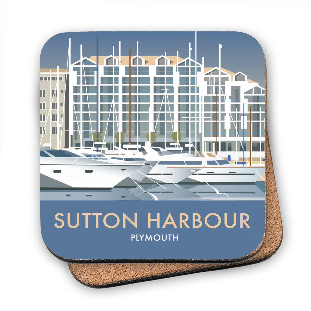 Sutton Harbour, Plymouth MDF Coaster