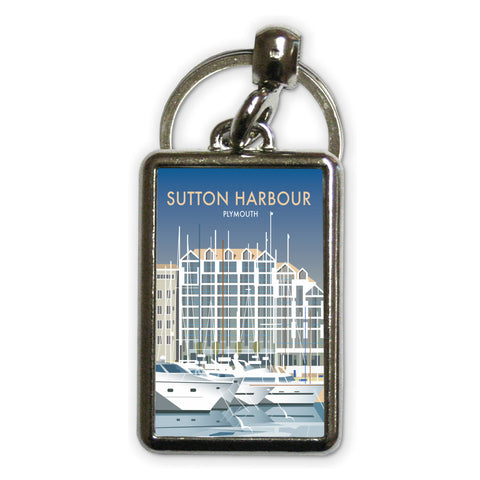 Sutton Harbour, Plymouth Metal Keyring