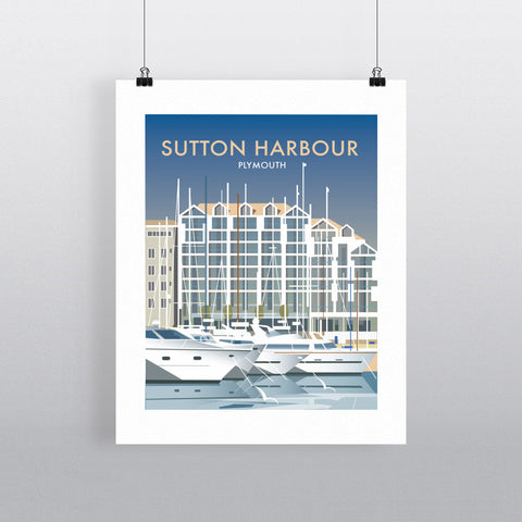 Sutton Harbour, Plymouth 90x120cm Fine Art Print