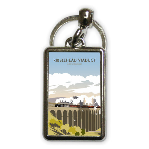 Ribblehead Viaduct, North Yorkshire Metal Keyring