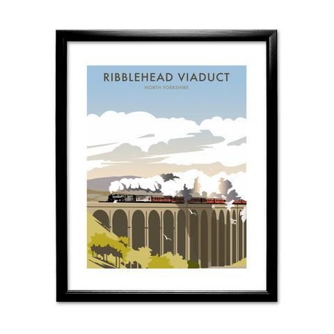Ribblehead Viaduct, North Yorkshire 11x14 Framed Print (Black)