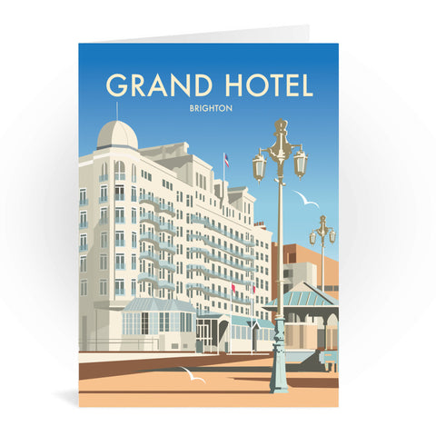 Grand Hotel, Brighton Greeting Card 7x5