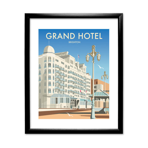 Grand Hotel, Brighton 11x14 Framed Print (Black)