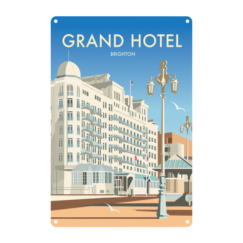 Grand Hotel, Brighton Metal Sign
