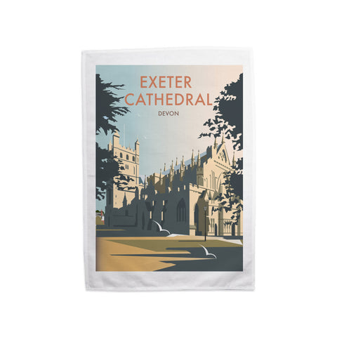 Exeter Cathedral, Devon Tea Towel